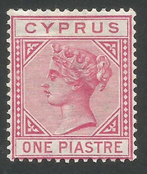 Cyprus Stamps SG 033 1892 One Piastre - MH (L551)