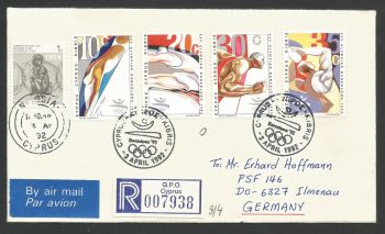 Cyprus Stamps SG 811-14 1992 Barcelona Olympic Games - Unofficial FDC (L515)