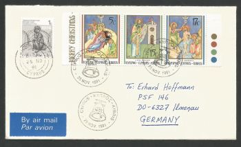 Cyprus Stamps SG 808-10 1991 Christmas - Unofficial FDC (L517)
