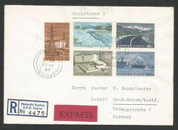 Cyprus Stamps SG 297-01 1967 Development Program - Unofficial FDC (L519)