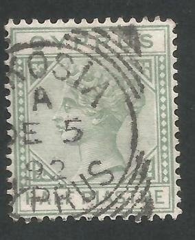 Cyprus Stamps SG 031 1892 Half Piastre - USED (L567)