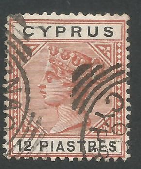 Cyprus Stamps SG 047 1896 12 Piastres - USED (L558)