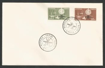Cyprus Stamps SG 209-10 1962 Malaria eradication campaign - Unofficial FDC (L577)