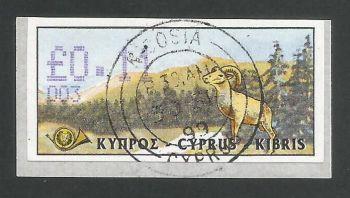 Cyprus Stamps 027 Vending Machine Labels Type D 1999 (003) Nicosia 11c - FDI CTO USED (d613)