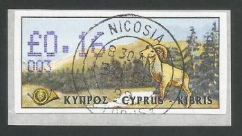 Cyprus Stamps 028 Vending Machine Labels Type D 1999 (003) Nicosia 16c - FDI CTO USED (L617)