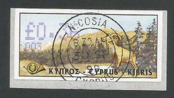 Cyprus Stamps 032 Vending Machine Labels Type D 1999 (003) Nicosia 36c -  FDI CTO USED (L623)