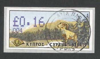 Cyprus Stamps 036 Vending Machine Labels Type D 1999 (004) Ayia Napa 16c - FDI CTO USED (L629)