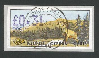 Cyprus Stamps 055 Vending Machine Labels Type D 1999 (006) Paphos 31c - FDI USED (L639)