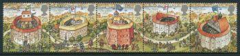 British Stamps 1995 SG 1882-86 Shakespeare's Globe Theatre - MINT (P304)