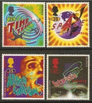British Stamps 1995 SG 1878-81 H G Wells - MINT (P300)