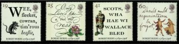 British Stamps 1996 SG 1901-04  Robert Burns - MINT (P302)