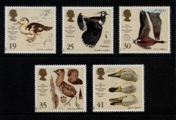 British Stamps 1996 SG 1915-19 Wildfowl and Wetlands Trust - MINT (P301)