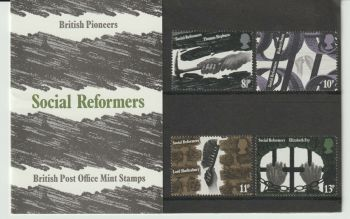 British Stamps 1976 Presentation Pack 79 SG 1001-03  British Pioneers Social Reformers