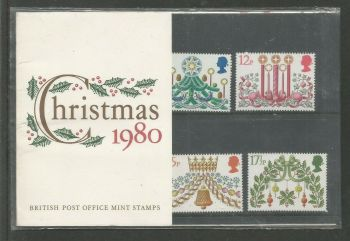 British Stamps 1980 Presentation Pack 122 SG 614-18 Christmas
