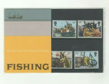 British Stamps 1981 Presentation Pack 129 SG 1166-69 Fishing