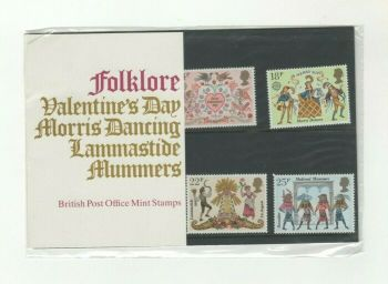 British Stamps 1981 Presentation Pack 124 SG 1143-1146 Folklore