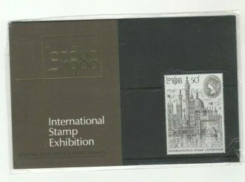 British Stamps 1981 Presentation Pack 117 SG 1118 London International Stamp Exhibition