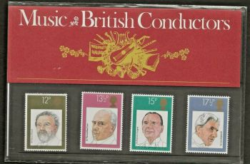 British Stamps 1980 Presentation Pack 120 SG 1130-33 Music British Conductors