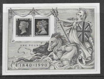 British Stamps 1990 1501 MS  Stamp World London - MINT (P327)