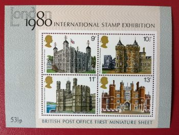 British Stamps 1978 SG 1058 MS  London Stamp Exibition - MINT (P329)