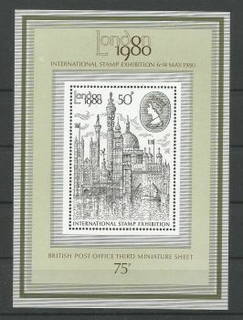 British Stamps 1980 SG 1119 MS 1980 London Stamp Exhibition - MINT (P328)