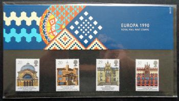 British Stamps 1990 Presentation Pack 206 SG 1493-96 Europa Glasgow city of culture