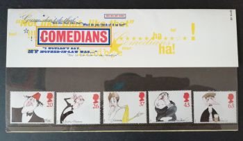 British Stamps 1998 Presentation Pack 287 SG 2041-45 Comedians