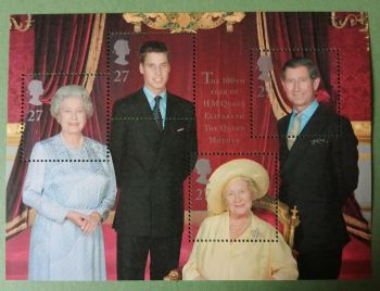 British Stamps 2000 2161 MS  Queen Mothers 100th Birthday - MINT (P360)