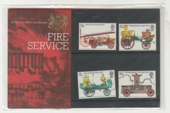 British Stamps 1974 Presentation Pack 60 SG 950-53  Fire Engines