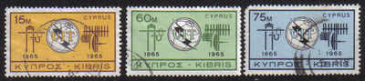 Cyprus Stamps SG 262-64 1965 ITU Centenary - USED (d866)