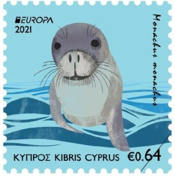 Cyprus Stamps EUROPA 2021 Endangered Wildlife Mediterranean Seal