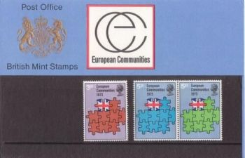 British Stamps SG 0919-21 1973 Presentation Pack 48  European Community