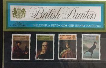 British Stamps SG 0931-34 1973 Presentation Pack 52  Reynolds Paintings