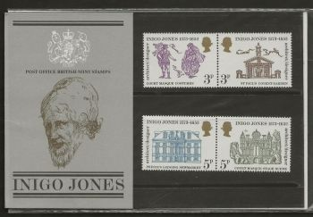 British Stamps SG 0935-38 1973 Presentation Pack 53  Indigo Jones