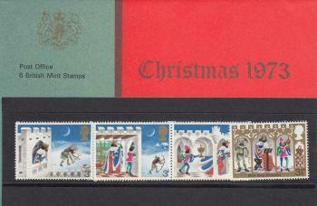 British Stamps SG 0943-48 1973 Presentation Pack 57  Christmas