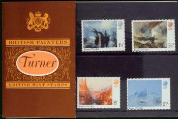 British Stamps SG 0971-75 1975 Presentation Pack 69  Turner