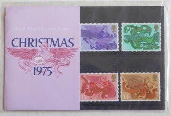 British Stamps SG 0993-961975 Presentation Pack 76  Christmas