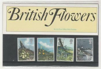 British Stamps SG 1079-82 1979 Presentation Pack 107  British Flowers