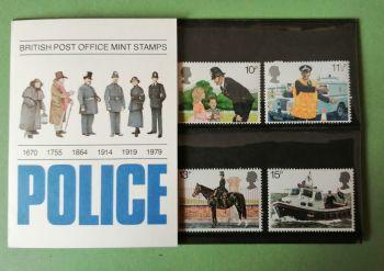 British Stamps SG 1100-03 1979 Presentation Pack 112  Police