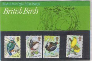 British Stamps SG 1109-12 1980 Presentation Pack 115 British birds