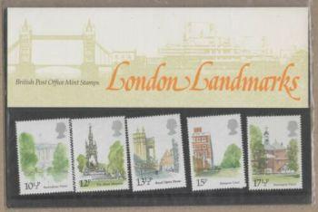 British Stamps SG 1120-24 1980 Presentation Pack 118 London Landmarks