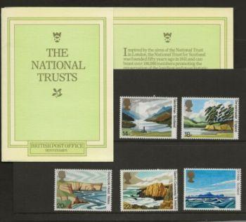 British Stamps SG 1155-59 1981 Presentation Pack 127 The National Trust