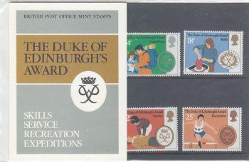 British Stamps SG 1162-65 1981 Presentation Pack 128 The Duke Of Edinburgh's Award