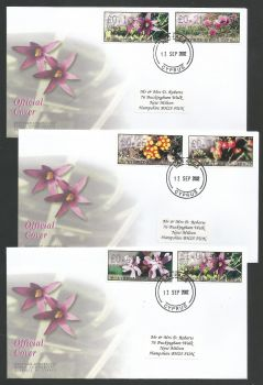 Cyprus Stamps Vending Machine Labels Type E 2002 (007) Larnaka - Official FDC  (L589)