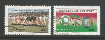 North Cyprus Stamps SG 282-83 1990 World Cup Football Italy - USED (L470)
