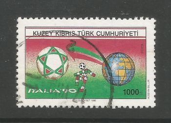 North Cyprus Stamps SG 283 1990 1000 TL - USED (L694)