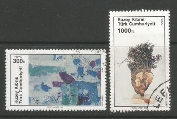 North Cyprus Stamps SG 284-85 1990 Art 9th Series - USED (L695)