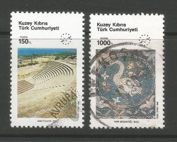 North Cyprus Stamps SG 286-87 1990 Tourism - USED (L696)