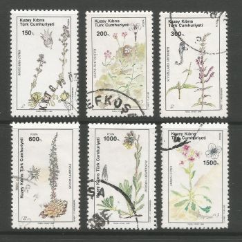 North Cyprus Stamps SG 293-98 1990 Plants - USED (L702)
