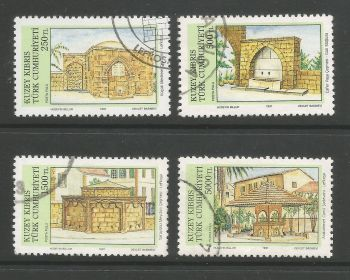North Cyprus Stamps SG 307-10 1991 Fountains - USED (L705)